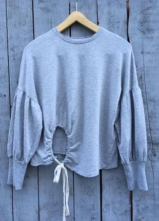 Очень стильный свитер с рукавами фонариками, объемные рукава, кофта, джемпер, реглан