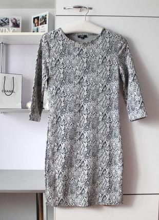 Плотное платье в змеиный принт от avant premiere