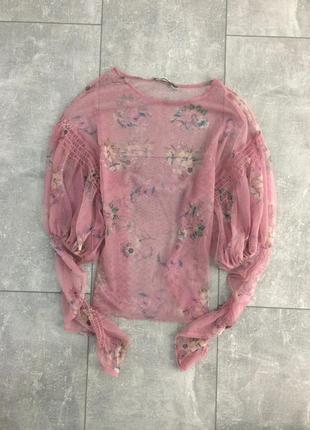 Прозрачная блуза зара