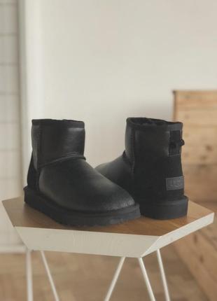 36-40 женские зимние тёплые сапоги ботинки ugg mini leather