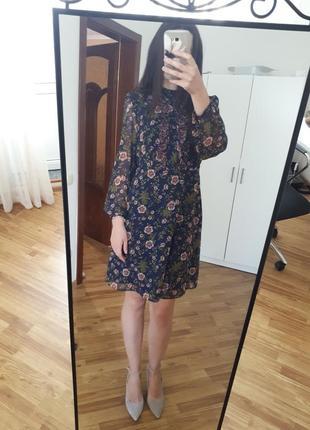 Шикарное платье миди в цветочный принт