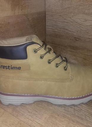 Зимние мужские ботинки restime р. 41-46 полномерные жёлтые и чёрные