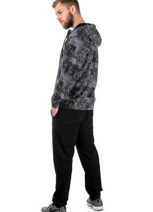 Теплый зимний с начесом мужской спортивный костюм, р-р 46-54