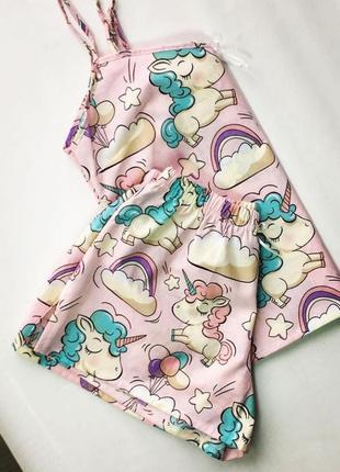 Пижама 100% хлопок майка шорты