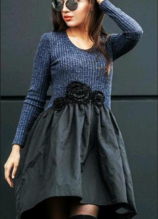 Платье маллет платья ассиметричное