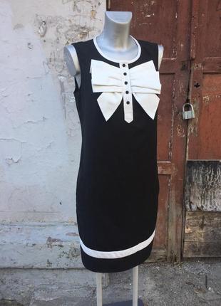 Платье футляр чёрное белое бант классика офисное ted baker бренд