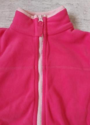 Флисовый костюм поддева для девочки carters3