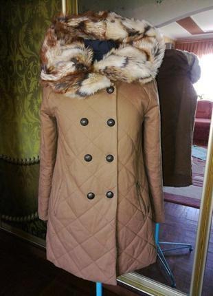 Пальто с мехом