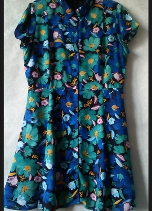 🎇👗 платье халат на пуговицах в цветочный принт🎉тренд 2018🎆