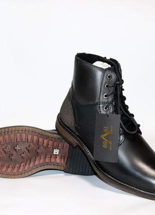 Мужские зимние ботинки versace оригинал италия натуральная кожа мех 42-47
