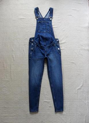 Стильный джинсовый бойфренд комбинезон для беременных h&m,  36 размер.