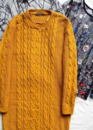 Красивое платье плаття сукня свитер вязка осень зима горчичный 🔥