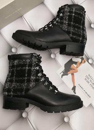 Marc fisher оригинал кожаные с твидом ботинки на шнуровке оригинал из сша