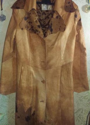 Кожанное пальто с подстежкой