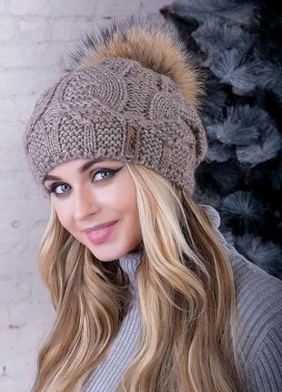 Женская шапка,зимняя