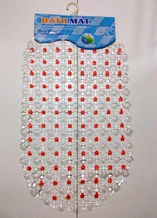 Антискользящий, силиконовый коврик для ванной ,на присосках