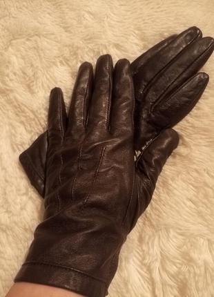 Перчатки шкіряні