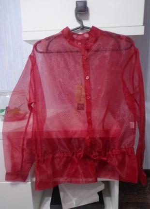 Скидка стильная блуза из органзы le streghe италия