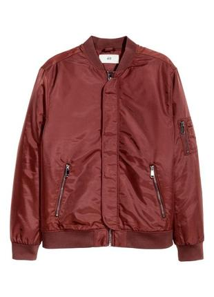 H&m бордовый ,вишневый бомбер куртка