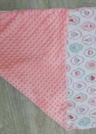 Плюшевый плед в коляску или кроватку
