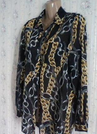 Блуза шифоновая, оверсайз, разм. 42-44