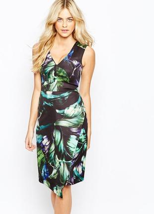 Ліквідація товару до 10 грудня 2018 !!! платье с тропическим принтом oasis