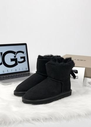36-40 шикарные женские ботинки сапоги ugg australia mini black