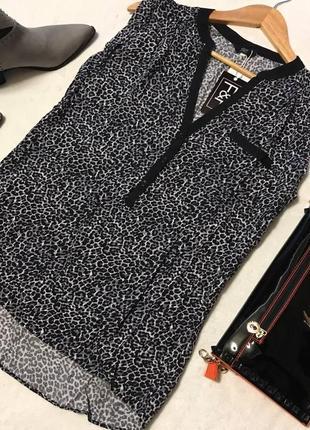 Стильная блуза из натуральной ткани в леопардовый принт от f&f
