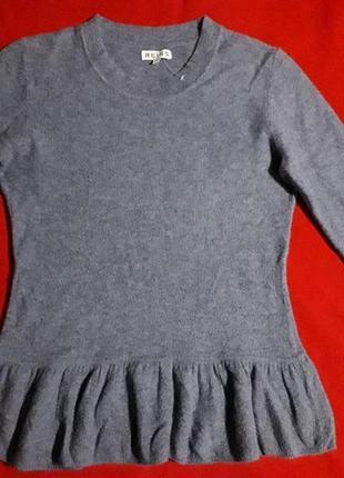 Красивейшая шерстяная кофта свитер reiss / в составе шерсть и ангора