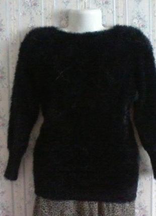 Шерстяной с кашемиром свитер-травка, разм. 44-46