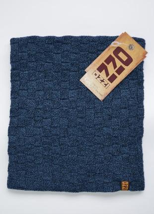 Бафф синего цвета в клетку, шарф на флисе ozzi