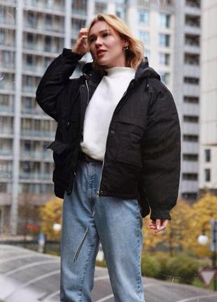 Акция/скидка! зимняя тёплая куртка оверсайз отличного качества