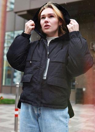Акция/скидка! зимняя тёплая куртка оверсайз отличного качества4 фото