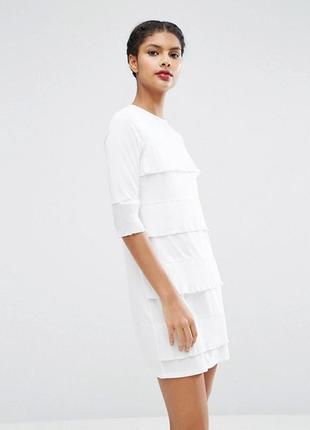 Цельнокройное платье с оборками asos
