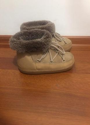 Ботинки из натуральной кожи с мехом felini мунбутс, тёплые как ugg