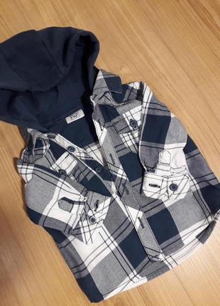 Рубашка на маленького модника 3-6 месяцев f&f