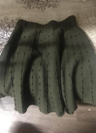 Тёплая юбка zara