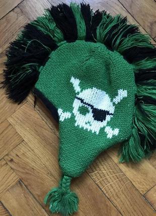 Рокерская очень прикольная веселая шапка на ребенка xs