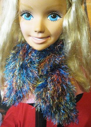 Бактус косынка шапка шарфик травка разноцветная
