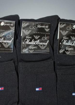 Черные теплые махровые новые мужские носки черные р 42 – 45
