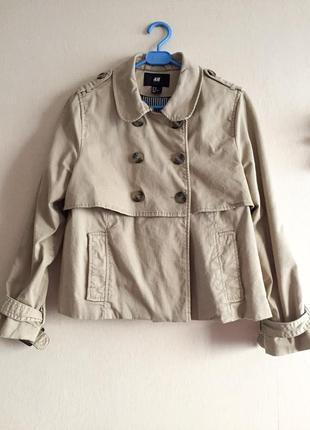 Укорочённое пальто h&m