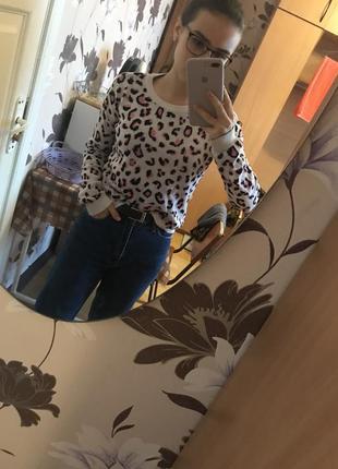 Кофта свитер леопардовый принт