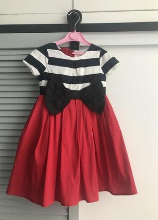 Нарядное платье next 4-5 лет парча с пышной юбкой