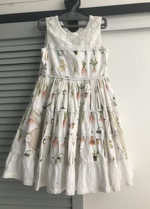 Платье next 5-6 лет с пышной юбкой в идеале