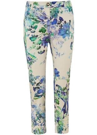 Распродажа!укороченные джинсы/цветочный принт m/10/44 размера от viyella
