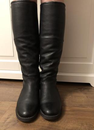 Зимние кожаные сапоги на меху, 36 размер италия