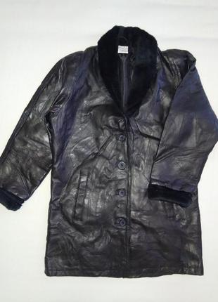 Кожаная куртка бойфренд anne de lancay