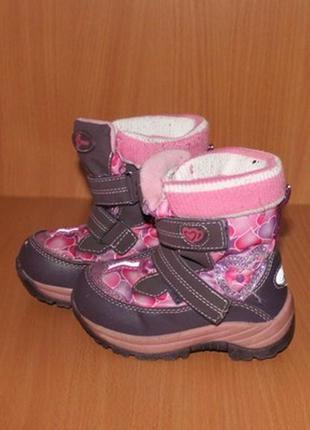 Зимние термо ботинки b&g, 23р, стелька 14-14,5 см