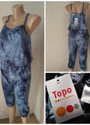 Topo фирменный новый с ценником комбинезон модный синий xxs 32 4 xs 34 6 s 36 8