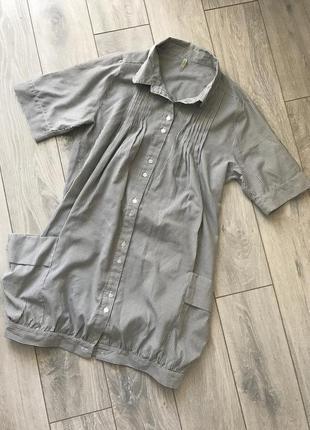 Платье рубашка denim co
